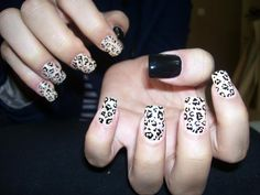Love this leopard look! Get Down with your wild side! www.nsinails.com