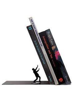 The End bookend in black painted metal | Kasala