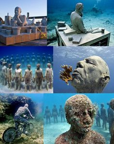 Underwater museum, Cancun, Mexico- one day I will go to this museum. One day.