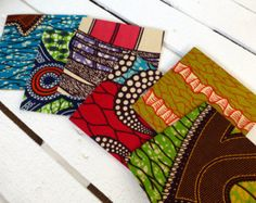 50 Fabric Covered Wedding Invitations Party African Wax Print Invitation