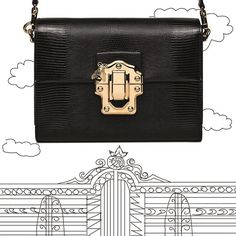A timeless black #DGLuciaBag is your passport to ladylike style.