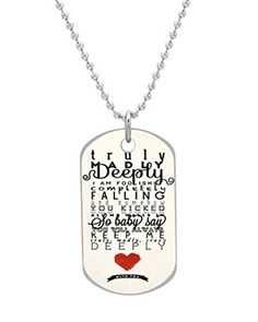 One Direction Truly Madly Deeply Custom OvaL Dog Tag Large Size Pet Tag Cat Animal Tag * More info could be found at the image url. (Note:Amazon affiliate link) #DogIDTags