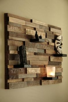 art made from wood | Reclaimed wood wall art 37x24x5 by CarpenterCraig on Etsy by jaime
