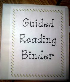 Guided Reading Ideas.
