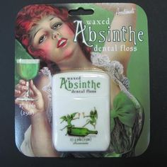 Who says flossing can't be enjoyable?  #absinthe