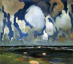 leprincelointain:Konrad Krzyżanowski (1872–1922), Nuages en Finlande - 1908