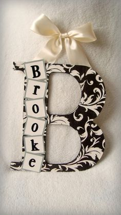 Cute and easy to make...would be great for the doors of our new house! Personalize to match everyones fave colors, or even do first initials with nicknames#Repin By:Pinterest++ for iPad#