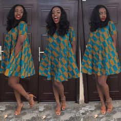 Ankara Short Dress Styles are now in Vogue for African Women - WearitAfrica Latest African Fashion Dresses, African Print Dresses, African Print Fashion, Africa Fashion, Ankara Short Gown Styles, Trendy Ankara Styles, Short Dresses, African Attire, African Wear