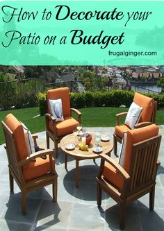 Some great frugal tips for decorating your outdoor living space