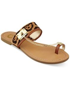 d0f38965a2b5 G by GUESS Lucia Flat Sandals   Reviews - Sandals   Flip Flops - Shoes -  Macy s