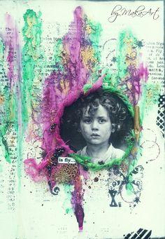 """My art journal page """"Your wings already exist...""""  Môjaktuálny príspevok na ScrapArt.cz   prinášanahliadnutiedonajnov šej stránky (vpisu) v mojom art journal...   Spomínaný článok nájd..."""