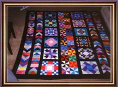 Mother and daughter Amish quilt