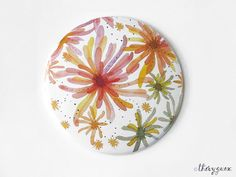 Blooming flower pastel illustration watercolor by thevysherbarium