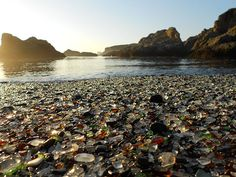 Sea Glass Beach in California