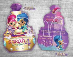 SPECIAL offer Shimmer & Shine Custom Birthday by SMMyDesigns