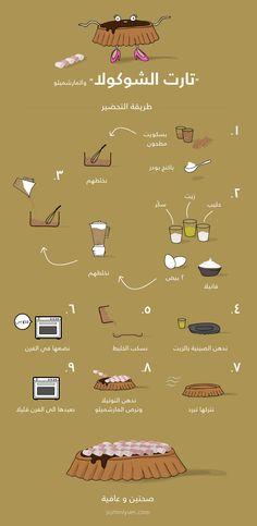وصفة عمل تارت الشوكولا والمارشميلو