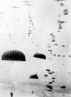 17 September 1944 - Operation Market Garden, the attempted liberation of Arnhem and turning of the German flank begins - Waves of 101st Airborne Paratroopers land in the Netherlands, the airborne operation to seize bridges between Arnhem and Eindhoven - 25 September - British troops pull out of Arnhem with failure of Operation Market Garden. Over 6,000 paratroopers are captured. Hopes of an early end to the war are abandoned.
