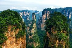 The National Forest Park of Zhangjiajie City in northern Hunan Province, China. photo © Peter Stewart.