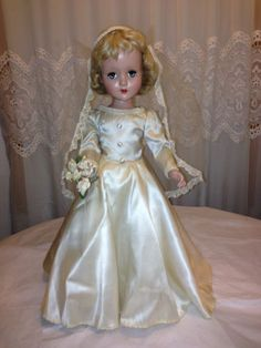 "1950s Vintage Original Arranbee Nancy Lee 21"" Bride Doll Original"