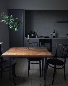 dark kitchen... More