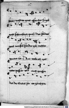 Mönch von Salzburg. Oswald von Wolkenstein: Geistliche Lieder mit Melodien Bayern/Österreich, erste Hälfte 15. Jh.: 3. Viertel 15. Jh. Cgm 715 Folio 181