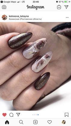 Gelish Nails, 3d Nails, Acrylic Nails, Fancy Nails, Cute Nails, Pretty Nails, Nail Art Designs Videos, Toe Nail Designs, Autumn Nails