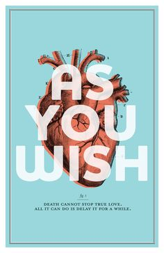 The Princess Bride  As You Wish Poster by AmyMcAdamsDesign on Etsy, $25.00