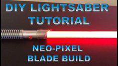 How to Build a Neo-Pixel Lightsaber Blade Step by Step - DIY Build Tutorial Lightsaber Parts, Darth Vader Lightsaber, Build Your Own Lightsaber, Lightsaber Hilt, Darth Maul, Star Wars Poster, Star Wars Art, Lego Star Wars, Star Trek