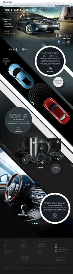 Lexus HTML5 Parallax on Web Design Served