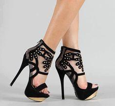 Mesh platform heels