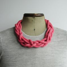 knit necklaces.