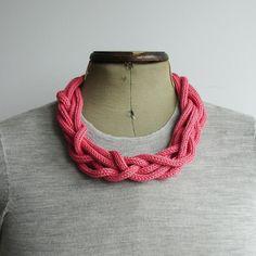 knit necklaces.