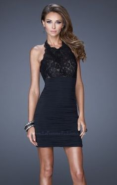 Jersey Cocktail Dress by La Femme 20634- So classy but still fitting for the night club