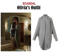 "On the blog: Olivia Pope's gray cocoon maxi cardigan | Scandal 406 - ""An Innocent Man"" #tvstyle #tvfashion #outfits #fashion #gladiators #TGIT"