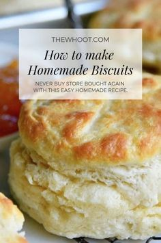 Trish's Perfect Homemade Biscuits Recipe Is A Winner And The.- You'll Love Trish's Perfect Homemade Biscuits Recipe Homemade Biscuits Recipe, Easy Homemade Recipes, Homemade Breads, Recipes For Biscuits, Bread Flour Recipes, Bread Baking, Homemade Biscuits From Scratch, Biscuit Dough Recipes, Homemade Cookies