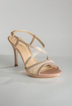 High Heel Satin and Lace Sandal from Camille La Vie and Group USA