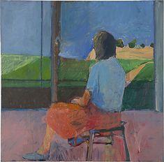 Richard Diebenkorn, Girl Looking At A Landscape 91957)