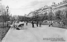 """""""Runebergin Esplanaatilla"""" 110 vuotta sitten.Kävelytuntien aikaan klo 3-5 i.p. saapuu puistoon mitä kirjavinta väkeä: nuoria naisia hienostelevine kavaljeereineen, virkamiehiä salkkuineen,iloisia ylioppilaita,kisailevia koululaisia,venäläisiä kimnasisteja harmaissa päällysnutuissaan,tuuheapartainen venäläinen pappi, sekä kreikkalainen munkki.Kuulemme puhuttavan useita kieliä: suomea, ruotsia, venäjää, puolaa, saksaa ja ranskaa. Blogi: Vanhaa paperia vain Historical Pictures, Beautiful Buildings, Helsinki, Historian, Old Photos, Finland, Paris Skyline, Louvre, Street View"""