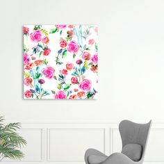 Discover «Roses bouquet watercolor», Limited Edition Acrylic Glass Print by Ninola - From 95€ - Curioos