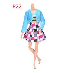 "3 Pcs/Set Dolls Fur Collar Coat Handmade Girl Doll Dress Slim Clothes Fashion Suit For Barbie 11"" Dolls Accessories"