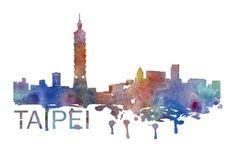 Taipei Art, Taipei Skyline, Taipei map, Taipei skyline, Taipei map print  A beautiful Watercolor Art print of Taipei, Taiwan. Perfect for an Cityscape Art, Skyline Art, Watercolor Projects, Watercolor Map, City Icon, City Illustration, Art Prints, Wall Art, Drawings