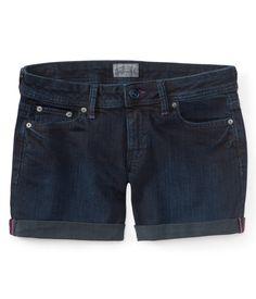 Dark Wash Denim Boyfriend Shorts - Aeropostale