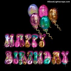 Metallic Balloons & Glitter Birthday Wishes Animated Birthday Greetings, Birthday Greetings For Facebook, Funny Happy Birthday Wishes, Birthday Wishes For Friend, Happy Birthday Dear, Happy Birthday Pictures, Happy Birthday Balloons, Birthday Messages, Birthday Photos