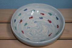 Pottery bowl, thrown on the wheel by Çiğdem Celasin