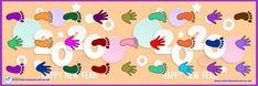 Banner ruta de pies y manos I Juegos para patio I Material Educativo Doraemon, Character, Yard Games, Hands, Cards, Manualidades, Lettering