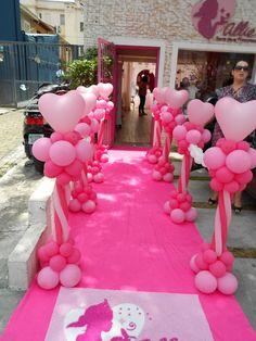 Gira Girassol Decoração com Balões: DECORAÇÃO PARA LOJA ALLIE - ITENS PARA PRINCESAS
