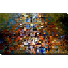 """PicturePerfectInternational """"Tile Art #1 2007"""" by Mark Lawrence Graphic Art on Wrapped Canvas Size:"""