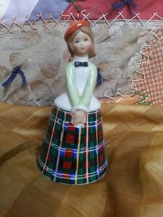 Schmid Brothers Porcelain Bell of Scottish Girl Bells by OldeBerry, $6.00