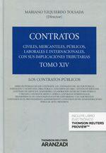 Contratos : civiles, mercantiles, públicos, laborales e internacionales... Tomo XIV, Los contratos públicos / director Mariano Yzquierdo Tolsada.   Aranzadi, 2014.