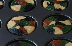 Camo cupcakes for the hunter's birthday!